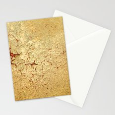 Cracked Wall Texture Yellow Stationery Cards