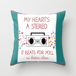 Valentines Print Throw Pillow