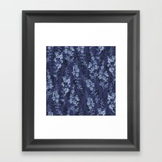 Blue Flower Pattern Framed Art Print
