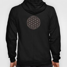 Mandala Rose Gold Flower of Life Hoody