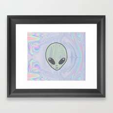 Alien Pastel Framed Art Print