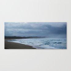 Fisherman at shore Canvas Print