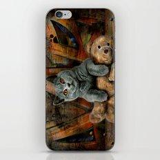 Cat Diesel with teddybear ! iPhone & iPod Skin