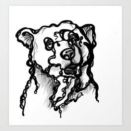 A bear Art Print