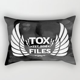Tox Files - White on Gray Rectangular Pillow