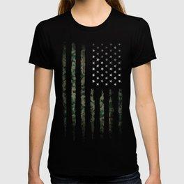 Khaki american flag T-shirt