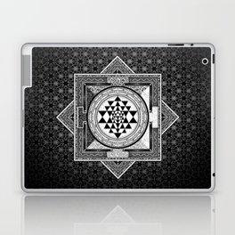 Sri Yantra Black & White Sacred Geometry Mandala Laptop & iPad Skin