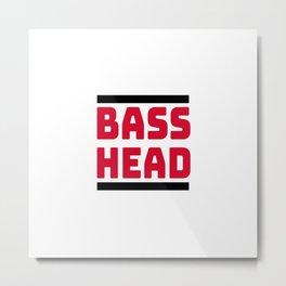 Bass Head, Rave, EDM, Junglist, dj gift, Dubstep, Dnb, DJ T-Shirt Metal Print
