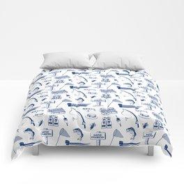 Gone Fishing // Dark Blue Comforters