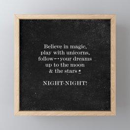 Night - Night! - Black Framed Mini Art Print