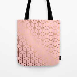 Pink and Gold Geometry 011 Tote Bag