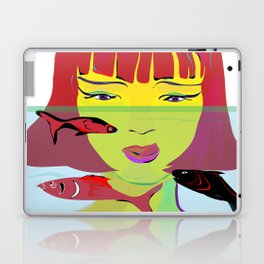 """Redhead Worry"" Paulette Lust's Original, Contemporary, Whimsical, Colorful Art Laptop & iPad Skin"