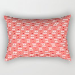 Hearts pattern and stereogram - See the hidden 3D image! Rectangular Pillow