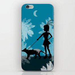 Burlesque girl walks her Tiger iPhone Skin