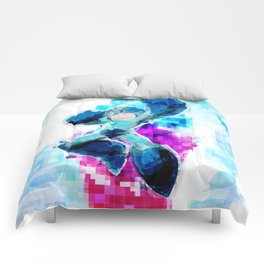 Mega Man WaterPixel (created initially for Storm Unity's Mega Man Marathon) Comforters