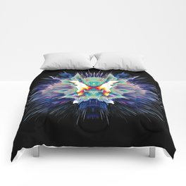 Light Butterfly Explosion Comforters