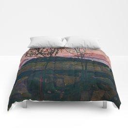 "Egon Schiele ""Setting Sun"" Comforters"