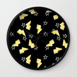 Stars & Bolts Wall Clock