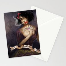 not so white, snow white Stationery Cards