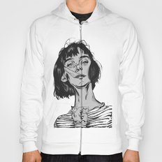 Woman in stripped shirt Hoody