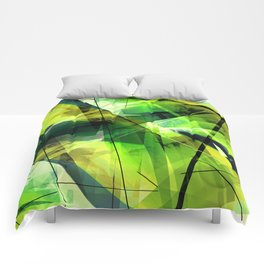 Vitalize - Geometric Abstract Art Comforters