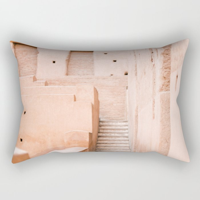 Colors of Marrakech Morocco - El badi palace photo print | Pastel travel photography art Rectangular Pillow