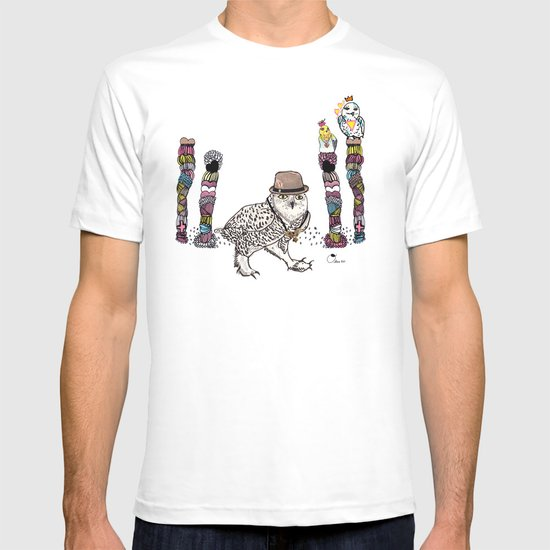 Owl in the City of Hearts T-shirt
