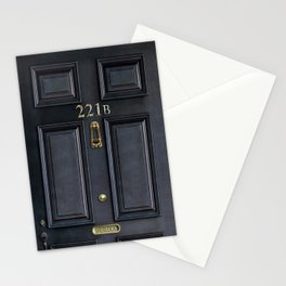 Haunted black door with 221b number Stationery Cards