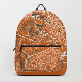 GHENT Map Belgium | Orange - More Colors, Review My Collections Backpack