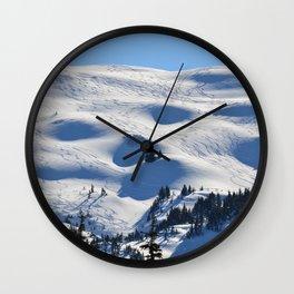 Back-Country Skiing - II Wall Clock