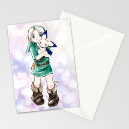 Young Link and Pichu Super Smash Bros Cute Kawaii Anime Fan Art Stationery Cards