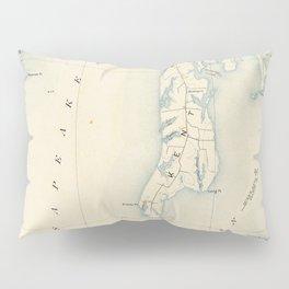 Vintage Annapolis MD & Chesapeake Bay Map (1902) Pillow Sham