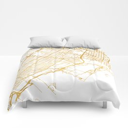 JERSEY CITY NEW JERSEY STREET MAP ART Comforters