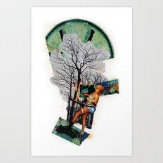 Rape of Aurora | Collage Art Print
