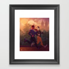 Running buddies Framed Art Print