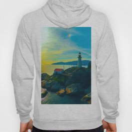 Lighthouse waking up. Hoody