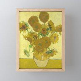 Sunflowers by Vincent van Gogh Framed Mini Art Print