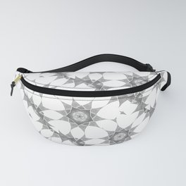 grey and white pattern Fanny Pack