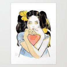 Yellow Ribbon Art Print