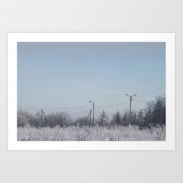 Zone in Winter Art Print