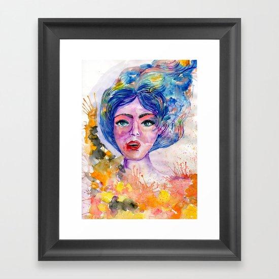Colorful explosion Framed Art Print