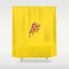 Cheesy Pepperoni Pizza Slice Shower Curtain