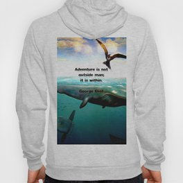 Adventure Wisdom Quotation With Underwater Scene Painting Hoody