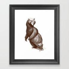 Skatepark Bear Framed Art Print