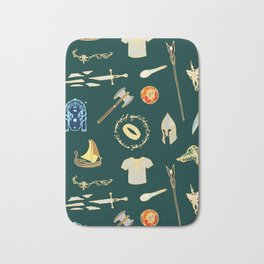 Lord of the pattern green Bath Mat