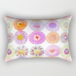 Summer Sorbet Watercolor Geometric Circles Rectangular Pillow