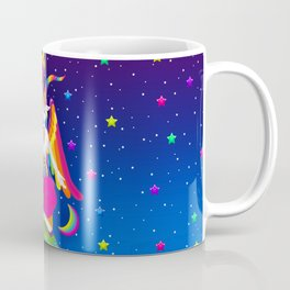 1997 Neon Rainbow Baphomet Coffee Mug
