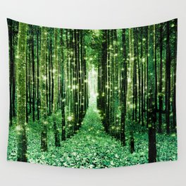 Magical Forest Green Elegance Wall Tapestry