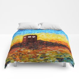 Time and Space Traveller Box in Twilight Zone Comforters