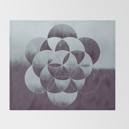 Sacred Geometry in the Forest Throw Blanket
